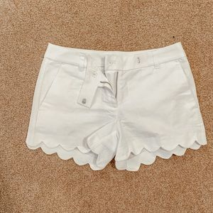 Jcrew scalloped shorts